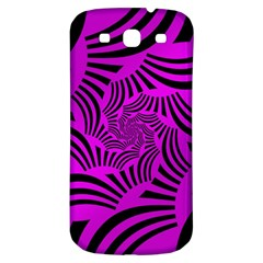 Black Spral Stripes Pink Samsung Galaxy S3 S Iii Classic Hardshell Back Case by designworld65