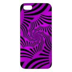 Black Spral Stripes Pink Apple Iphone 5 Premium Hardshell Case by designworld65
