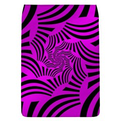 Black Spral Stripes Pink Flap Covers (s)  by designworld65