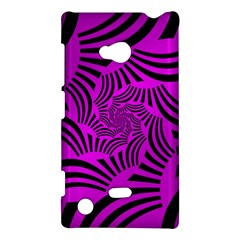 Black Spral Stripes Pink Nokia Lumia 720 by designworld65