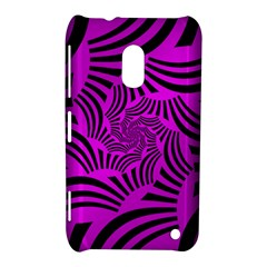 Black Spral Stripes Pink Nokia Lumia 620 by designworld65