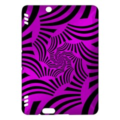 Black Spral Stripes Pink Kindle Fire Hdx Hardshell Case by designworld65