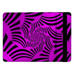 Black Spral Stripes Pink Samsung Galaxy Tab Pro 12 2  Flip Case by designworld65