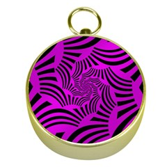 Black Spral Stripes Pink Gold Compasses by designworld65