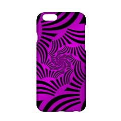 Black Spral Stripes Pink Apple Iphone 6/6s Hardshell Case