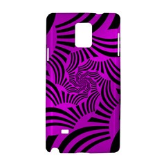 Black Spral Stripes Pink Samsung Galaxy Note 4 Hardshell Case