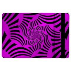 Black Spral Stripes Pink Ipad Air 2 Flip by designworld65