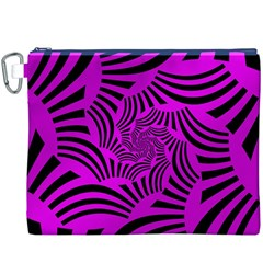 Black Spral Stripes Pink Canvas Cosmetic Bag (xxxl) by designworld65