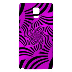 Black Spral Stripes Pink Galaxy Note 4 Back Case by designworld65