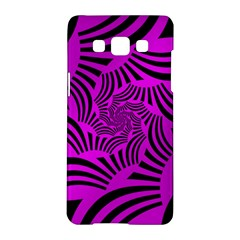 Black Spral Stripes Pink Samsung Galaxy A5 Hardshell Case  by designworld65