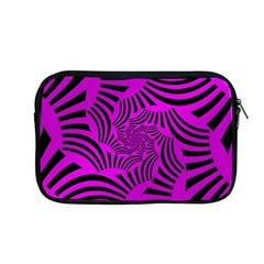 Black Spral Stripes Pink Apple Macbook Pro 13  Zipper Case by designworld65