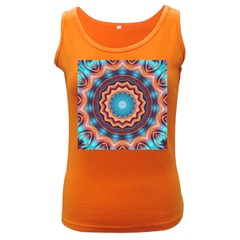 Blue Feather Mandala Women s Dark Tank Top