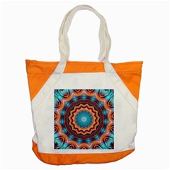 Blue Feather Mandala Accent Tote Bag