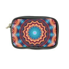 Blue Feather Mandala Coin Purse