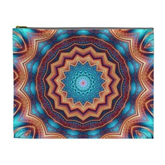 Blue Feather Mandala Cosmetic Bag (xl) by designworld65