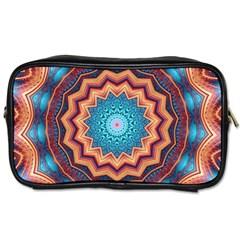 Blue Feather Mandala Toiletries Bags by designworld65