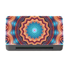 Blue Feather Mandala Memory Card Reader With Cf by designworld65