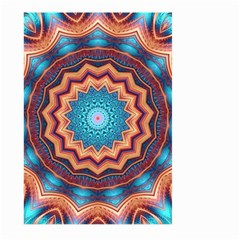 Blue Feather Mandala Large Garden Flag (two Sides) by designworld65