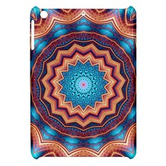 Blue Feather Mandala Apple Ipad Mini Hardshell Case by designworld65