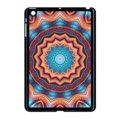 Blue Feather Mandala Apple Ipad Mini Case (black) by designworld65