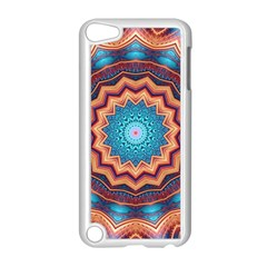 Blue Feather Mandala Apple Ipod Touch 5 Case (white) by designworld65