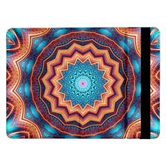 Blue Feather Mandala Samsung Galaxy Tab Pro 12 2  Flip Case by designworld65
