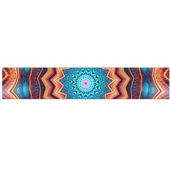 Blue Feather Mandala Flano Scarf (large) by designworld65