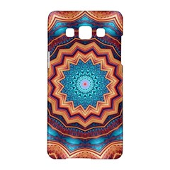 Blue Feather Mandala Samsung Galaxy A5 Hardshell Case  by designworld65