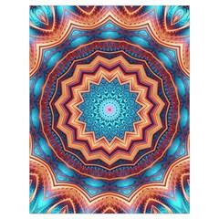 Blue Feather Mandala Drawstring Bag (large) by designworld65