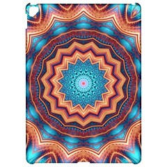 Blue Feather Mandala Apple Ipad Pro 12 9   Hardshell Case by designworld65
