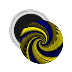Blue Gold Dragon Spiral 2 25  Magnets