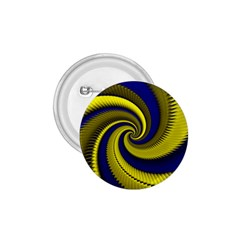 Blue Gold Dragon Spiral 1 75  Buttons by designworld65