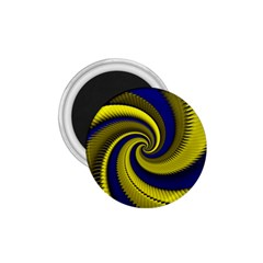 Blue Gold Dragon Spiral 1 75  Magnets