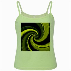 Blue Gold Dragon Spiral Green Spaghetti Tank