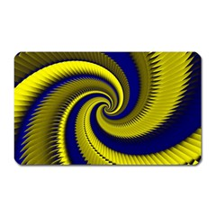 Blue Gold Dragon Spiral Magnet (rectangular)