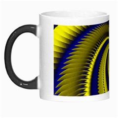 Blue Gold Dragon Spiral Morph Mugs by designworld65