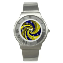 Blue Gold Dragon Spiral Stainless Steel Watch by designworld65