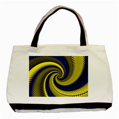 Blue Gold Dragon Spiral Basic Tote Bag