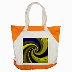 Blue Gold Dragon Spiral Accent Tote Bag