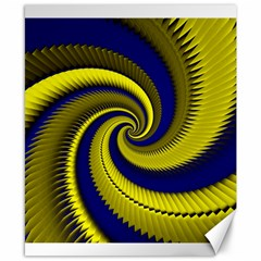 Blue Gold Dragon Spiral Canvas 8  X 10