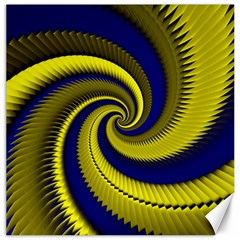 Blue Gold Dragon Spiral Canvas 16  X 16   by designworld65