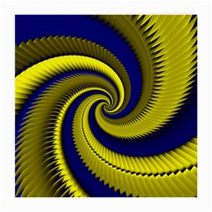 Blue Gold Dragon Spiral Medium Glasses Cloth (2 Side) by designworld65