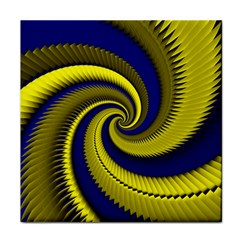 Blue Gold Dragon Spiral Face Towel