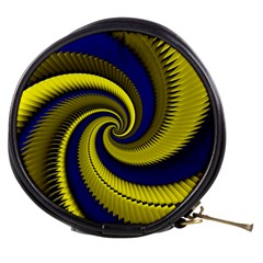 Blue Gold Dragon Spiral Mini Makeup Bags