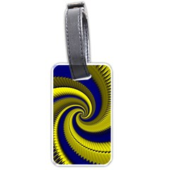 Blue Gold Dragon Spiral Luggage Tags (one Side)  by designworld65