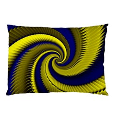 Blue Gold Dragon Spiral Pillow Case (two Sides) by designworld65