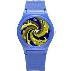 Blue Gold Dragon Spiral Round Plastic Sport Watch (s)