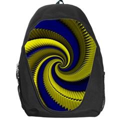 Blue Gold Dragon Spiral Backpack Bag by designworld65