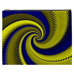 Blue Gold Dragon Spiral Cosmetic Bag (xxxl)