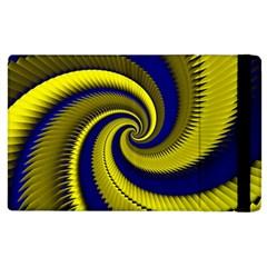 Blue Gold Dragon Spiral Apple Ipad 3/4 Flip Case by designworld65